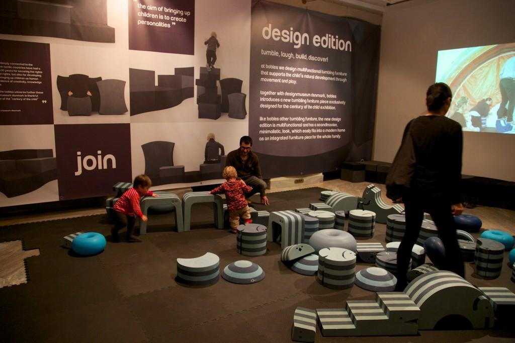 Une des zones de jeux du musée du design