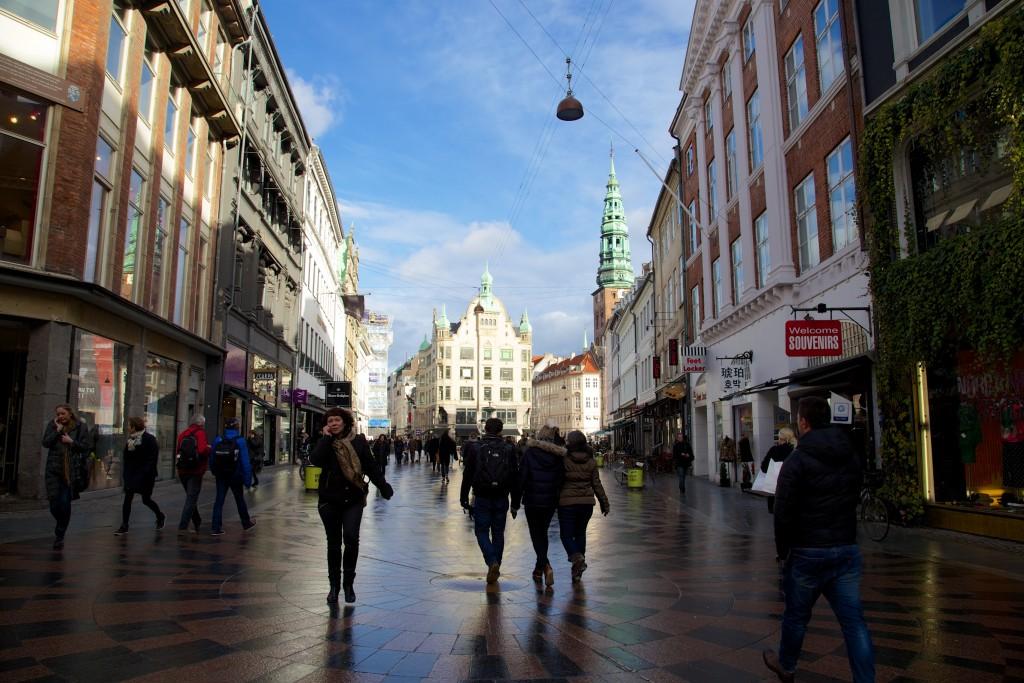 Balade dans la rue piétonne de Vimmelskaftet