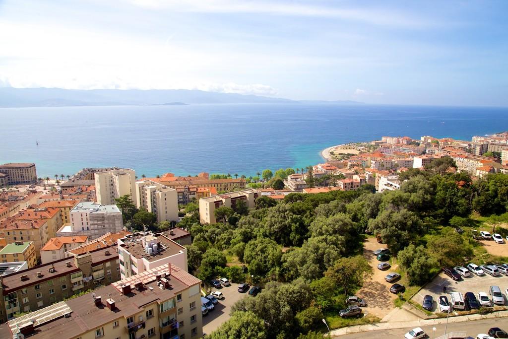 Baie d'Ajaccio depuis la terrasse de notre chambre