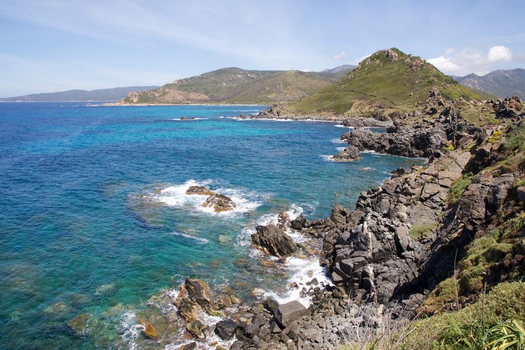 Départ de la promenade du Sentier des Douaniers à la Parata, Ajaccio, Corse