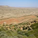 Du haut de la colline surplombant le monastère Lavra