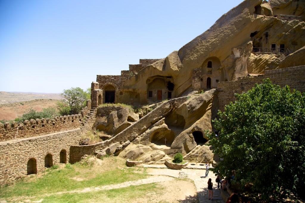 Au sein du monastère Lavra du côté géorgien