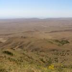 Zone semi-désertique entre la Géorgie et l'Azerbaïdjan