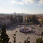 Piazza del Popolo en travaux