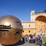 Sphere Within Sphere by Pomodoro in the Cortile della Pigna, Vatican, Rome