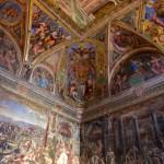 Fresque dans les musées du Vatican