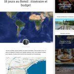 Exemple d'Intégration d'un itinéraire sur le blog de Graine de voyageuse