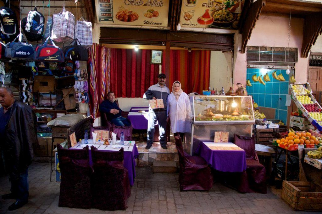 Gargotte de rue à Fès près de Bab Boujloud