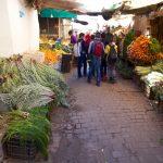 Marché alimentaire entre le marché aux puces de Boujloud et Talaa Kebira