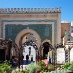 Bab Boujloud depuis la petite terrasse du restaurant la Kasbah à Fès