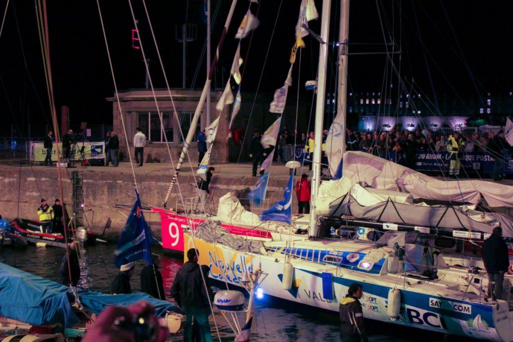 Passage des écluses par les bateaux de la Route du Rhum