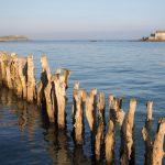 Brise-lames protégeant Saint-Malo des marées
