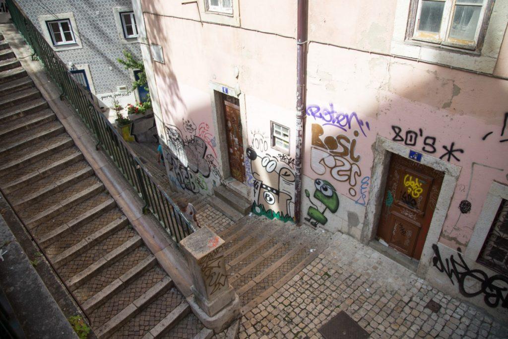 Des escaliers.... encore des escaliers....