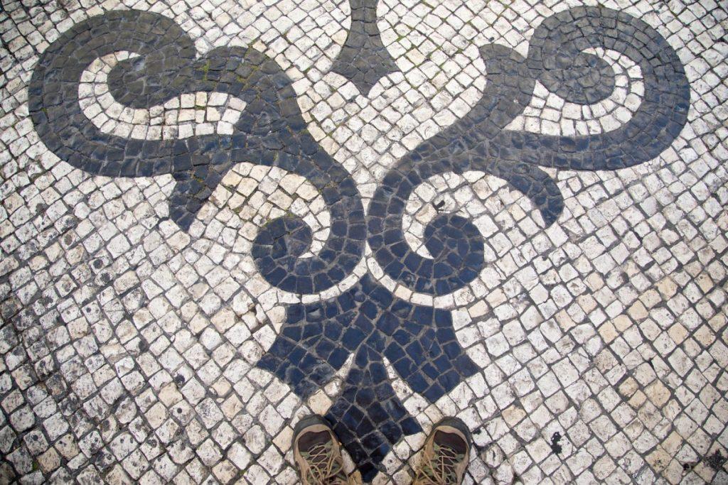 Lisbonne : les trottoirs en mosaïques