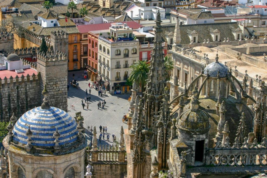 Sur les toits de la Cathédrale de Séville