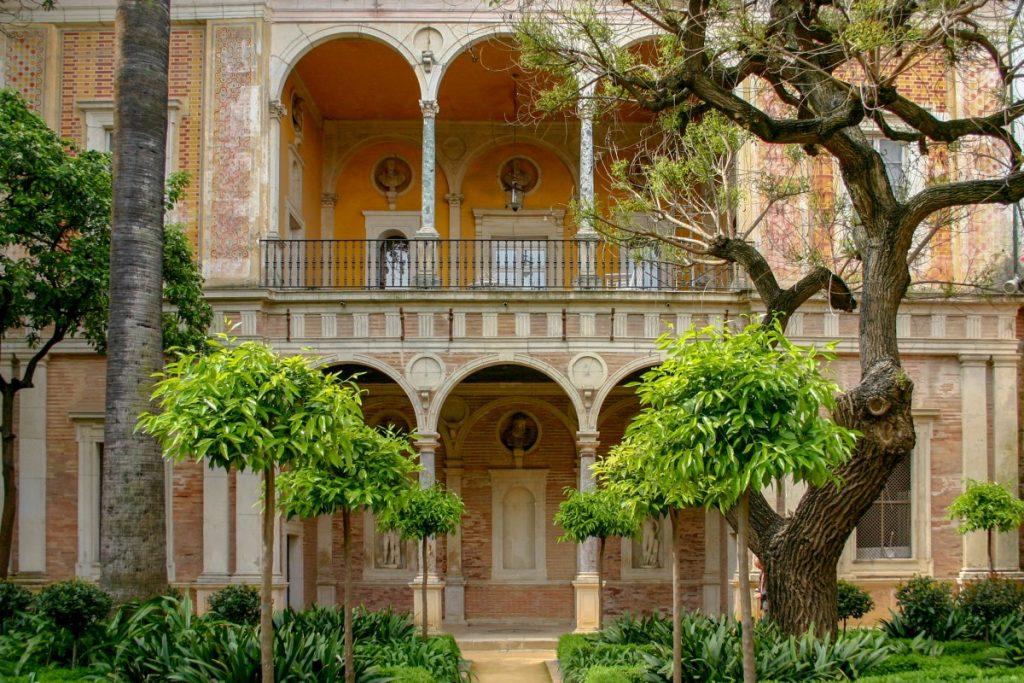 Le patio de la Casa de Pilatos à Séville