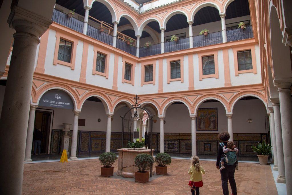 Le patio du musée des beaux-arts de Séville