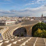 Une des plus belle vue de Séville en haut du Metropol Parasol