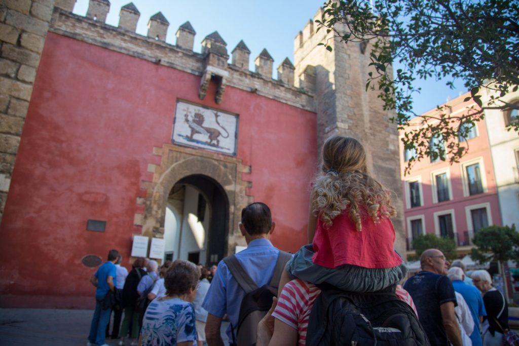 Entrée du Real Alcazar de Séville :