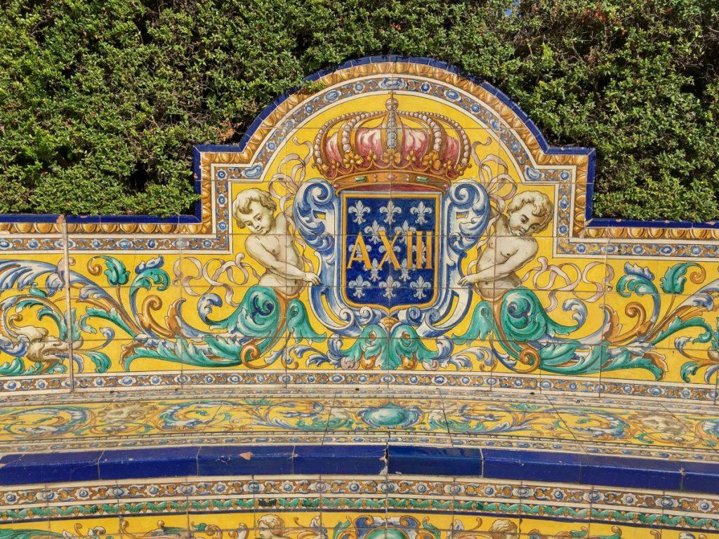 Azulejos dans les jardins de l'Alcazar