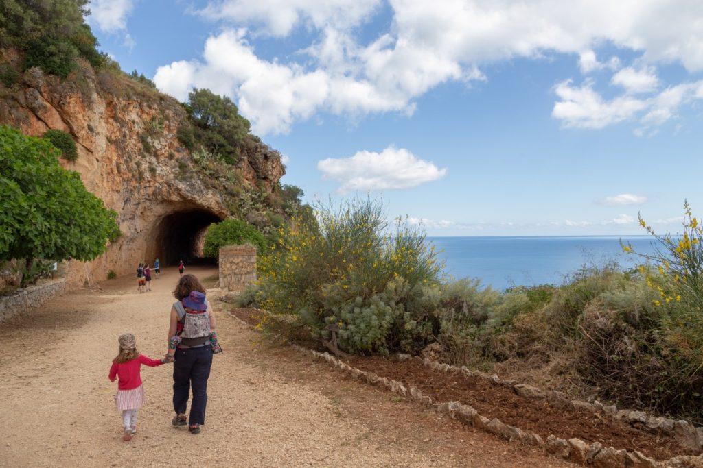 L'entrée de la réserve du Zingaro côté Scopello