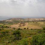 Panorama du sud de l'île de Gozo depuis la promenade aménagée à Nadur