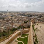Vue sur Victoria à Gozo du haut de sa citadelle