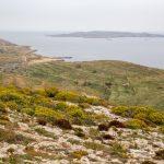 Vue sur l'île de Comino et de Malte depuis le sud de l'île de Gozo