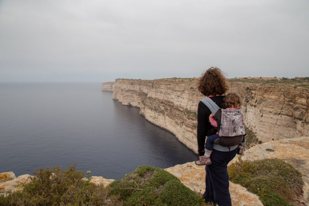 Impressionnantes falaises de Ta-Cenc à Gozo