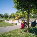 Aire de jeux et de pique-nique à Audelange sur le bord de la voie verte