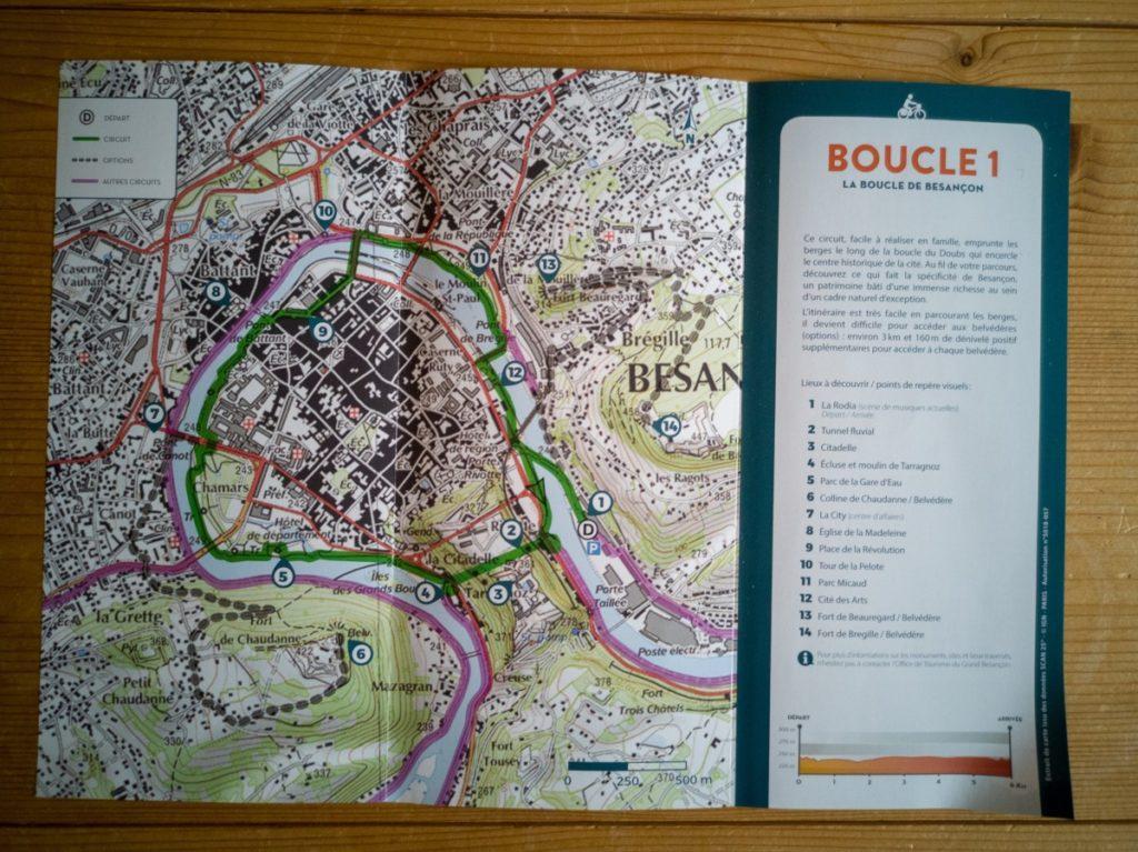 Tour de Besançon à vélo : Office du tourisme de Besançon