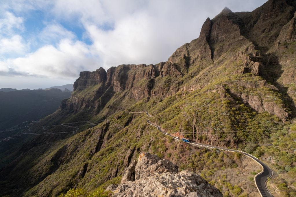 La route pour se rendre à Masca sur l'île de Tenerife est assez abrupte !