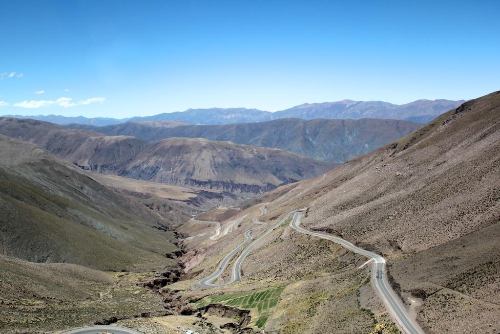 Route en Argentine sur la boucle Tilcara-Salta