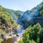 Vue depuis le Train de l'Ardèche