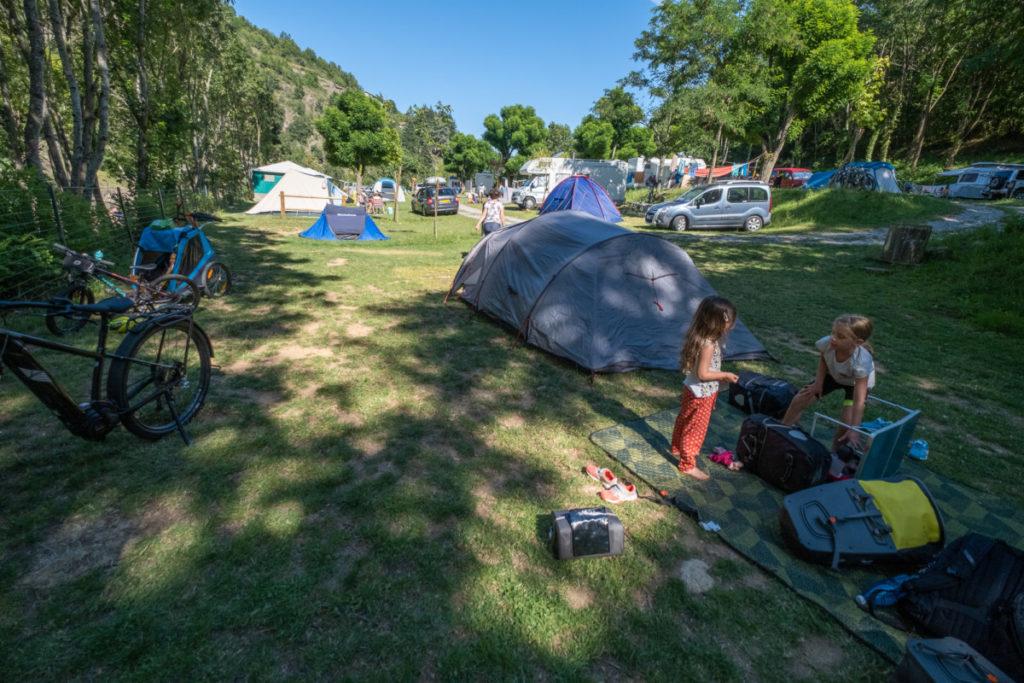 Voyage en famille à vélo et sous la tente
