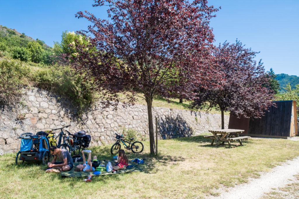 Pause pique-nique à Pont-de-Chervil