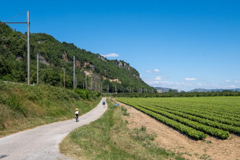 Sur la ViaRhôna en Ardèche