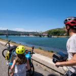 Arrivée à Tournon-sur-Rhône et Tain l'Hermitage à vélo